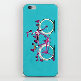 Butterfly Bicycle iPhone Skin
