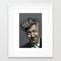 david lynch Framed Art Prints featuring DAVID LYNCH by AMBIDEXTROUS™