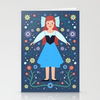 ariel Stationery Cards featuring Ariel by Carly Watts