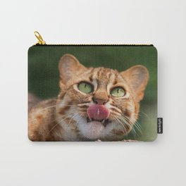 RUSTY SPOTTED CAT LICK Carry-All Pouch