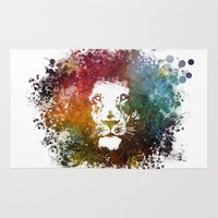 lion king Area & Throw Rugs featuring Lion King by jbjart