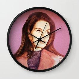 del Rey portrait Wall Clock