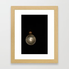Vintage Lightbulb Framed Art Print