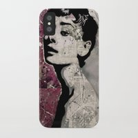 audrey iPhone & iPod Cases featuring Audrey by A e f f e
