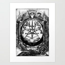 The Dreaming Abyss (Black and White) Art Print