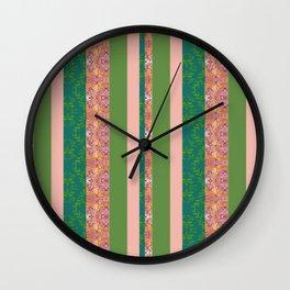 zakiaz bohemian stripe Wall Clock