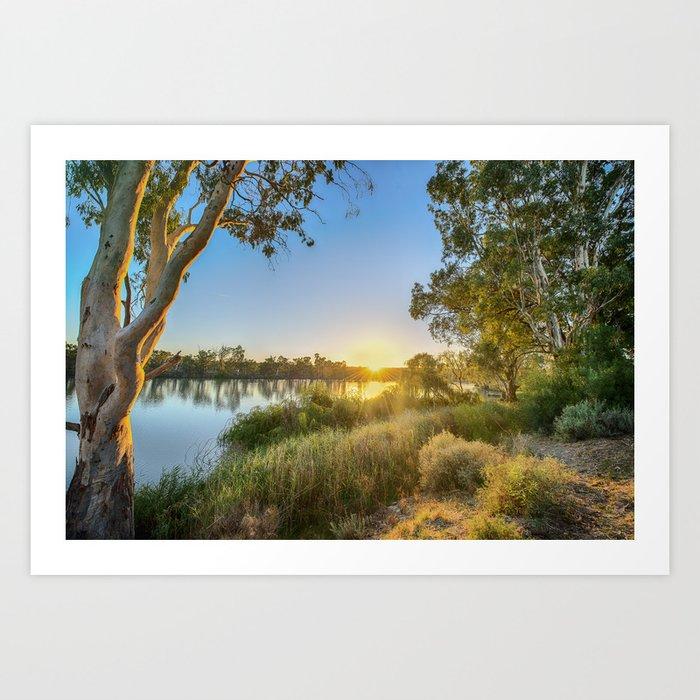 River Sunrise Art Print