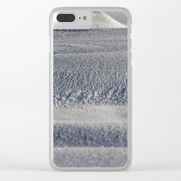 beautiful fresh snow Clear iPhone Case