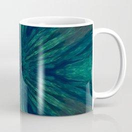 Blue Green Marine Flower Coffee Mug