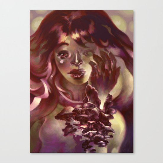 Girl Hand Girl Canvas Print