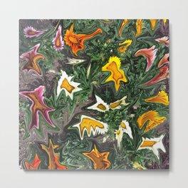 456 - Abstract Flower Garden Metal Print
