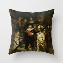 The Night Watch - Rembrandt van Rijn Throw Pillow