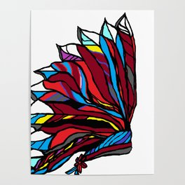 Native American Head-dress Poster