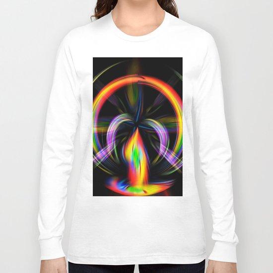 Digital Painting Fire Long Sleeve T-shirt