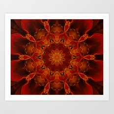 Kaleidoscoped Marigold Art Print