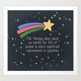 Therapy Takes Time Art Print