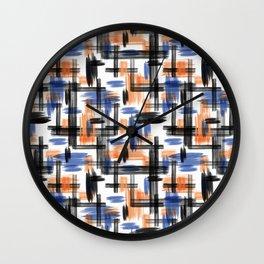 Watercolor abstraction. Wall Clock