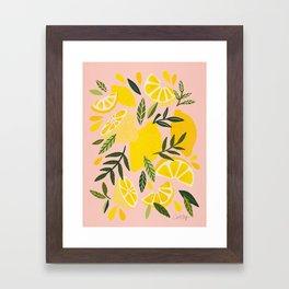 Lemon Blooms – Blush Palette Framed Art Print