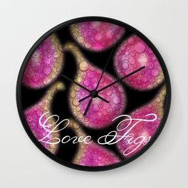 Love Figs Wall Clock