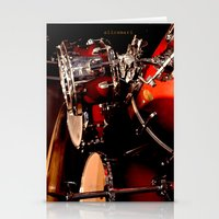 drums Stationery Cards featuring Drums  by Alice Mari