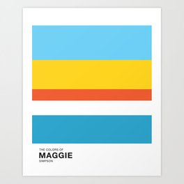 The Color of - MAGGIE Simpsons Art Print