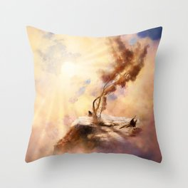 Dusk Tree Throw Pillow