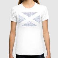 scotland T-shirts featuring digital Flag (scotland) by seb mcnulty