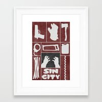 sin city Framed Art Prints featuring Sin City by Travis English