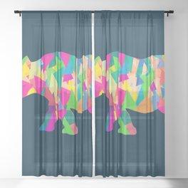 Abstract Rhino Sheer Curtain