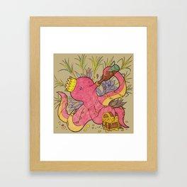 octopus king light Framed Art Print
