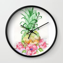 Hawaiian Pineapple Wall Clock