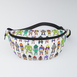 Superhero Butts with Villians - Light Pattern Fanny Pack