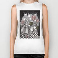 concert Biker Tanks featuring Alice's After Tea Concert by Judith Clay