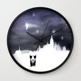 Cats on tour 2 Wall Clock