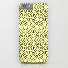 Ancient Pattern Illustration in Honey Yellow iPhone 6s Slim Case