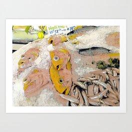 Fish Lichtenstein #1 Art Print