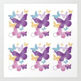 Motif papillons Art Print