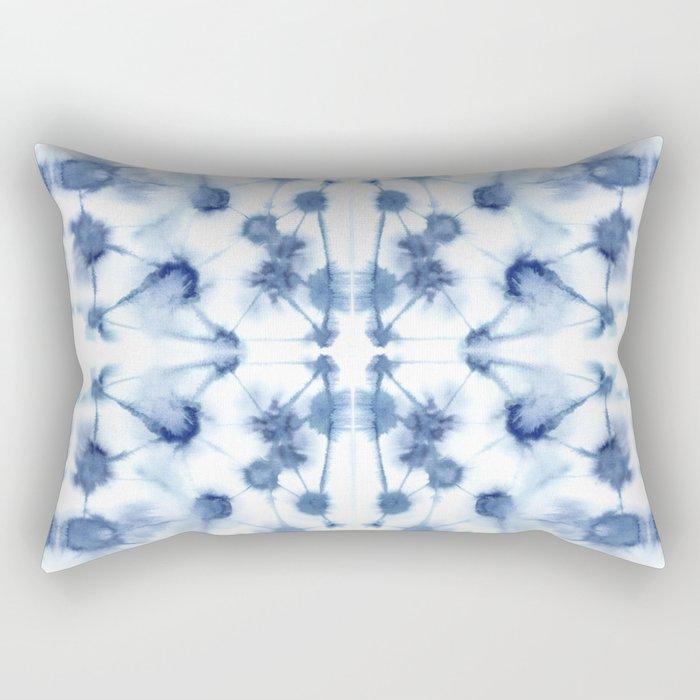 Mirror Dye Blue Rectangular Pillow