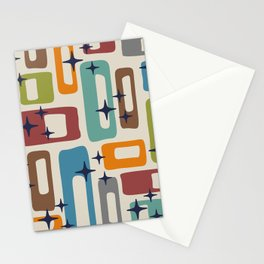 Retro Mid Century Modern Abstract Pattern 224 Stationery Cards