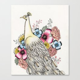 PEACOCK IN PARADISE Canvas Print