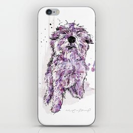 Purple Dog iPhone Skin