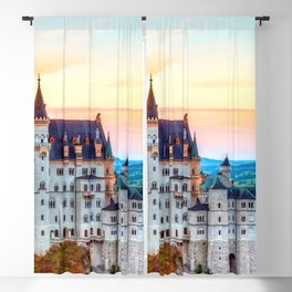 Wonderfully Romantic Fairytale Neuschwanstein Castle Hohenschwangau Bavaria Germany Europe Ultra HD Blackout Curtain