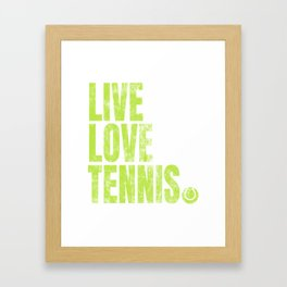 Tennis Player Game Love Ball Sports Gift Framed Art Print