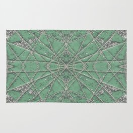 Snowflake Mint Rug