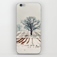 farm iPhone & iPod Skins featuring Winter Farm by elle moss