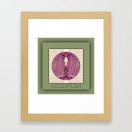 Accomplish Manifestation Mandala No. 6 Framed Art Print