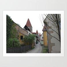 Small Lane in Amberg Art Print