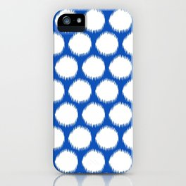 Sapphire Asian Moods Ikat Dots iPhone Case