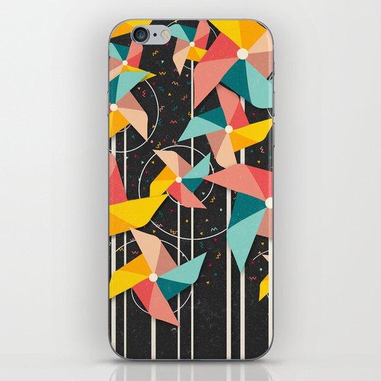 Colourful Pinwheels iPhone & iPod Skin