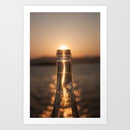 Bottling up the sunset Art Print